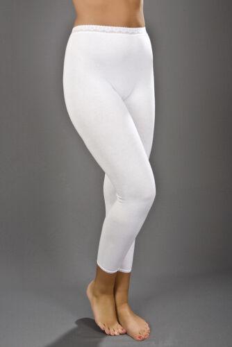 Nero 10//12//14 Onorevoli termica lunga Johns Janes Underwear Bianco 16//18//20