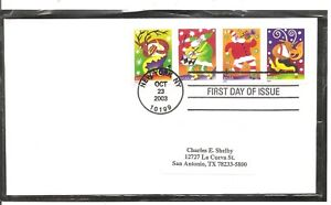 US-SC-3821-3824-Christmas-Music-makers-FDC-No-Cachet-1
