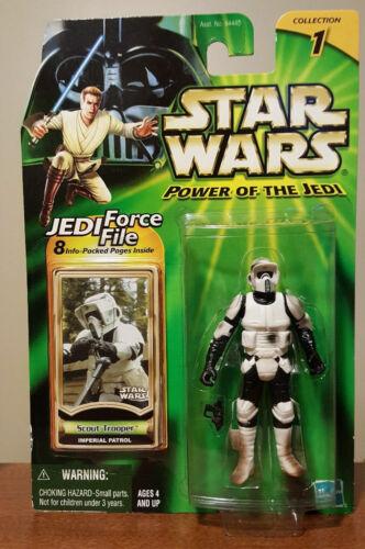 "Imperial Patrol POTJ /""Jedi Force File/"" Col-1 2000 MOC Star Wars SCOUT TROOPER"