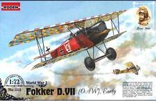 FOKKER D.VII /OAW EARLY/ (KAISERLICHE LUFTWAFFE ACES MKGS) #13  1/72 RODEN