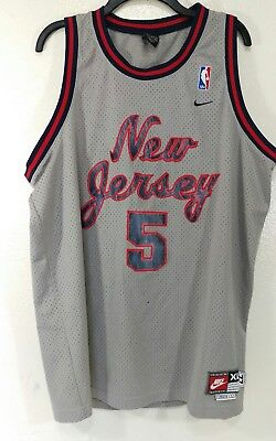 buy online a13b0 57deb NBA #5 Jason Kidd New Jersey Nets Jersey Nike Rewind X-Large Length +2 XL |  eBay