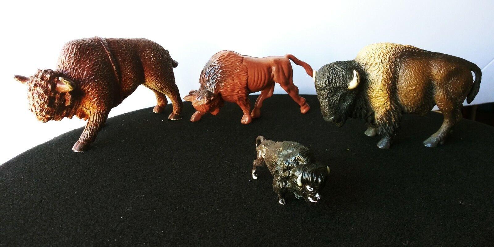 AMERICAN BUFFALO   BISON PVC,VINYL, PLASTIC VINTAGE ANIMAL LOT. RAE,SCHLEICH +