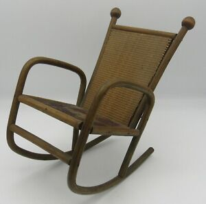 Awe Inspiring Details About Antique Bent Wood Doll Furniture Rocking Chair Rocker 8 5 Wicker Seat Machost Co Dining Chair Design Ideas Machostcouk