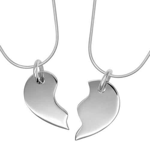2 en 1 corazón plata colgante amor corazón amistad corazón zumteilen 925 real