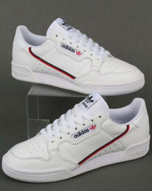 sneakers for cheap 56d6c 5d288 adidas Continental 80 Trainers in White, Red   Navy - Rascal leather retro