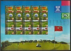 245S-MALAYSIA-1999-WORLD-CUP-GOLF-CHAMPIONSHIP-SHEETLET-OF-5-SETS-FRESH-MNH