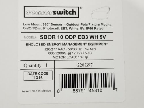 Sensorswitch Low Mount 360° On//Off//Dim Outdoor Motion Sensor//Photocell 120-277V
