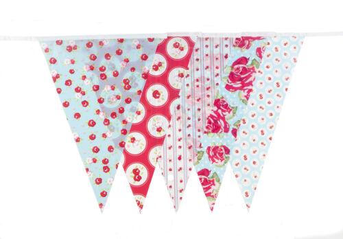 English Rose Bunting 10m Shower Birthday Pennant Flag Banner Vintage Floral
