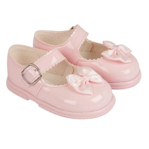 Bebé Niñas Zapatos Con Arco primera Walkers Baypods Hecho en Reino Unido