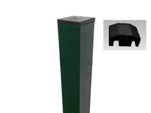 piastrina di fissaggio in nylon per paletto quadro cancellata verde cancello