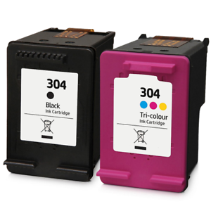 Refilled Hp 304 Black And Colour Ink Cartridges For Envy 5010 Inkjet Printer Ebay