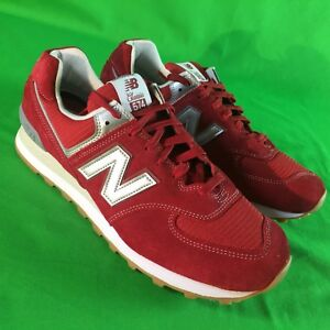 8e1c999d759df New Balance 574 Classic Men's Size 12 Red Suede Retro Runner Shoes ...