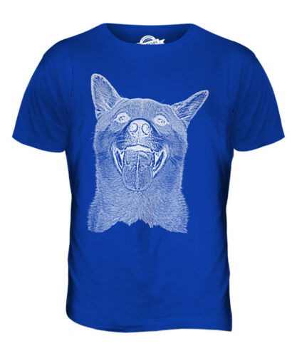 SHIBA INU SKETCH MENS PRINTED T-SHIRT TOP GREAT GIFT FOR DOG LOVER SPITZ JAPAN