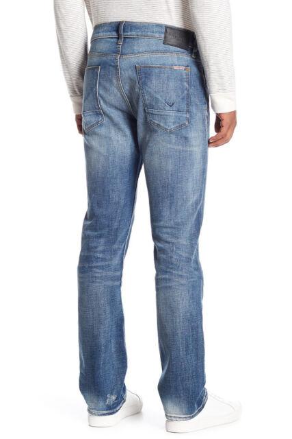 08d5dd33e54 NWT HUDSON Mens Byron 5-Pocket Straight Zip Fly Jeans Size 34 Laughlin  Distress