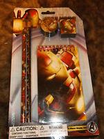 5 Pc Iron Man Stationary Set Marvel Comics School Supplies Avenger Study Set