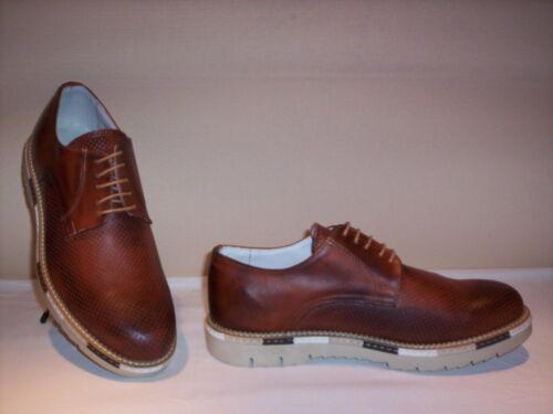 Pour Chaussures In En Hommes Made Bleu Classiques Élégant Italy Casual Cuir Brun Eq8d8Y6