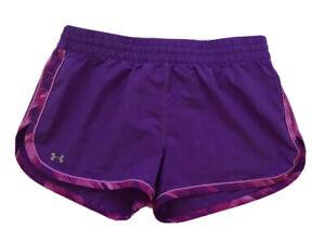 Under-Armour-UA-Great-Escape-II-Women-s-Running-Shorts-Lined-Sz-S-Purple-EUC