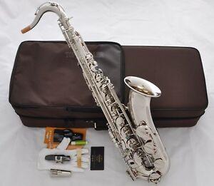 Professional-TaiShan-Silver-Nickel-Tenor-Saxophone-Bb-Sax-Abalone-Shell-High-F