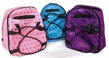 """Trio of Backpacks with Sequins for 18"""" American Girl Doll Clothes Accessories"""