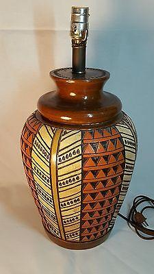 Bitossi geometric pottery lamp Raymor Italy