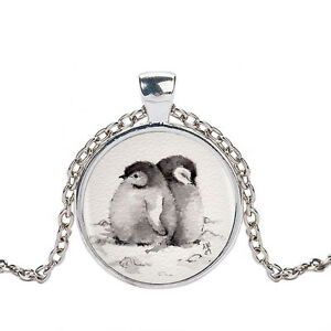 Uk penguin pendant necklace silver chain jewellery gift idea girls image is loading uk penguin pendant necklace silver chain jewellery gift aloadofball
