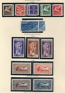 Italy stamps 1930 YV Airmail 11A-24 MLH/CANC VF