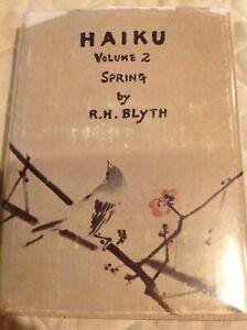 Haiku-R-H-Blyth-Volume-2-Haiku-Spring-1950-Dustjacket-Ninth-Printing-1966