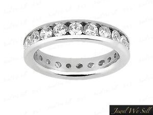 Genuine-1-00Ct-Round-Diamond-Classic-Eternity-Wedding-Band-Ring-10k-Gold-GH-I1