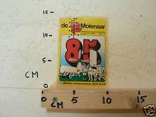 STICKER,DECAL DE MOLENAAR 85 WEEKBLAD