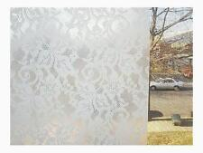 Privacy Contact Paper Lace Window Film Self Adhesive Clear Covering Easy to Appl