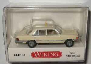 Wiking-014924-MB-300-SD-W116-1978-Taxi-1-87-Spur-HO