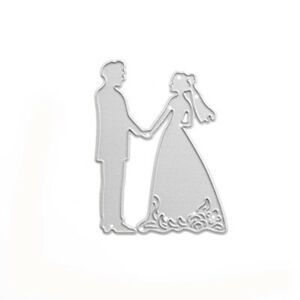 Metal Bride Groom Wedding Cut Dies Stencils For DIY Scrapbooking Photo Album _SL