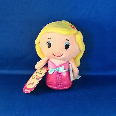 Hallmark - Itty Bittys - Barbie in Pink Dress - Caucasian - Small Plush - NEW