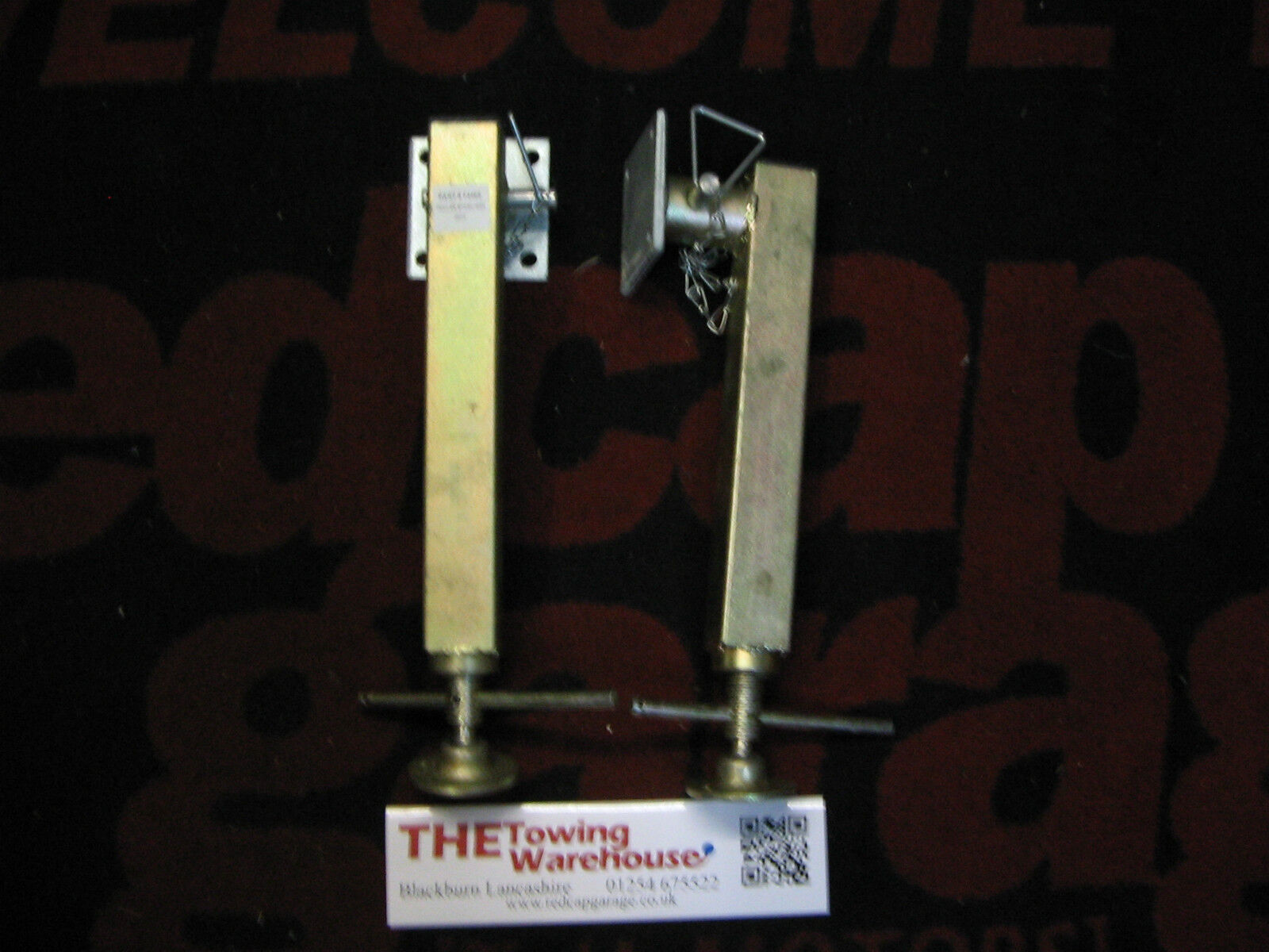 2X Drop down rear propstand P1114 type for Ifor Williams plant/livestock trailer
