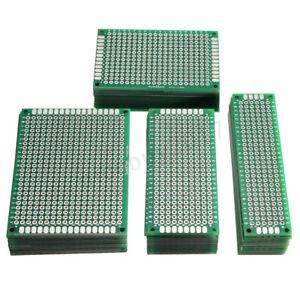 40x-Lochraster-Leiterplatte-Streifenraster-Platine-PCB-Board-2x8-3x7-4x6-5x7cm