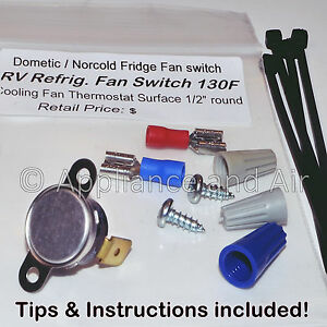 Details about Dometic Refrigerator Cooling Fan Switch Thermostat RV Camper  Boat FAST Shipping!