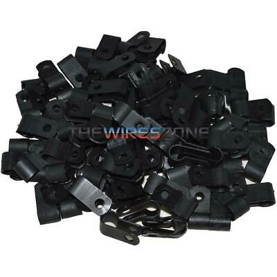 Black 100-Pack Install Bay BCC14 1//4-Inch Cable Clamp
