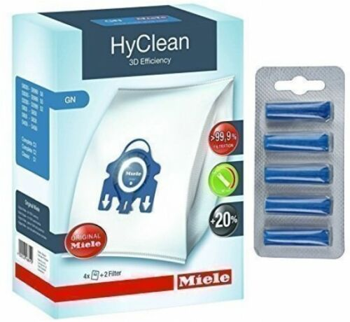 Genuine GN HyClean 3D Efficiency Dust Bags Miele Vacuum Cleaners and amp; ##