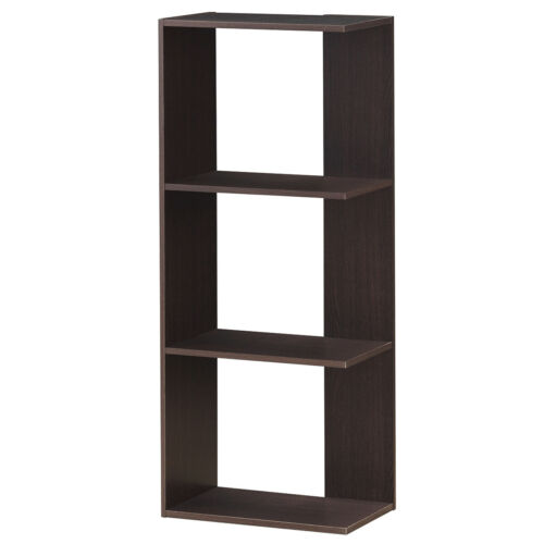 3-Tier Bookcase Storage Open Shelves Unit Room Divider for Home Office