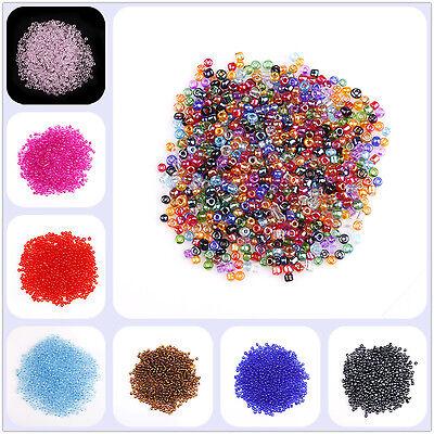2000pcs 2mm Perles Intercalaire Verre Seed Spacer Beads pour Bijoux 20 couleurs