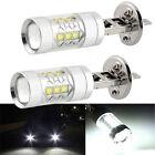 Super Bright White 2Pc H1 80W Cree LED Fog Tail Turn DRL Head Car Light Lamp