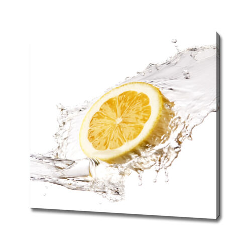 LEMON SPLASH CANVAS PICTURE PRINT WALL ART HOME KITCHEN DECOR FREE P/&P