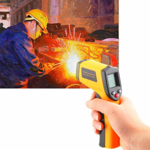 Digital Non-Contact Temperature Sensor LCD Display IR Laser Infrared Thermometer
