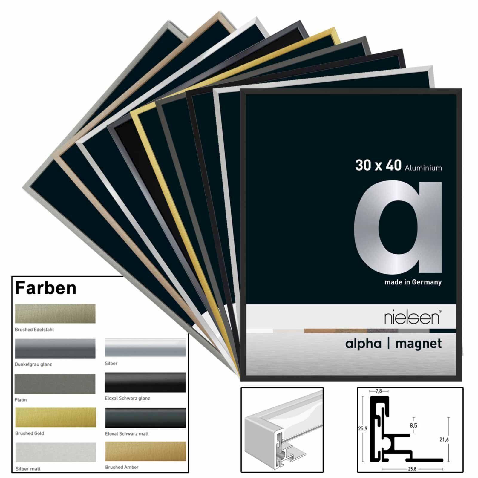 Bastidor alfa de aluminio alfa Bastidor magnético con cristal acrílico en diferentes colores y tamaños 67ef51