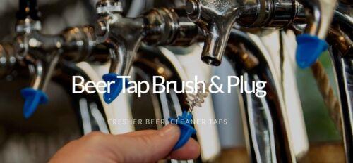 BEER FAUCET BRUSH KLEEN PLUG 3X BLUE HYGIENE TAP CAP TO KEEP CLEAN BUG FREE TAPS