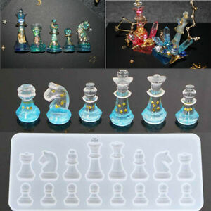 Crystal Chess Silicone Pendant Jewelry Mold Resin Epoxy Casting Mould Craft Tool