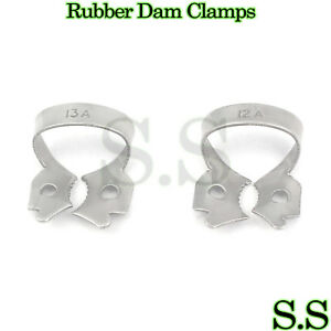6-Set-Of-2-Endodontic-Rubber-Dam-Clamps-12A-amp-13A-Dental
