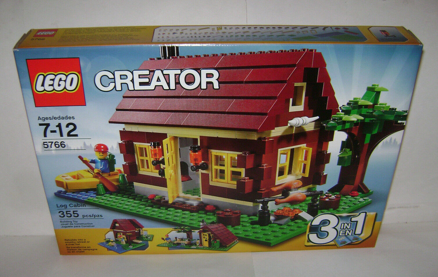 NEW 5766 Lego CREATOR Log Cabin 3 in 1 Building Toy SEALED BOX RETIrosso A