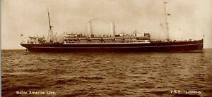 T-S-S-Lituania-Baltic-America-Line-Ocean-Liner-RPPC-Vintage-Postcard-EE1