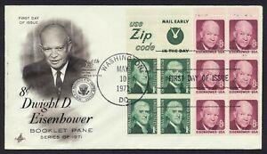 #1395b 8c Eisenhower Combo W/ # 1278a, Arte Craft-Add FDC Cualquier 5=